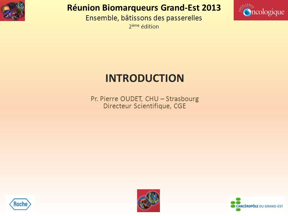 Réunion Biomarqueurs Grand-Est 2013