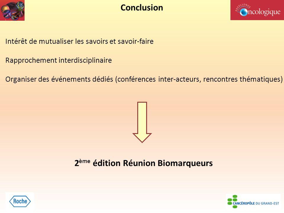 2ème édition Réunion Biomarqueurs