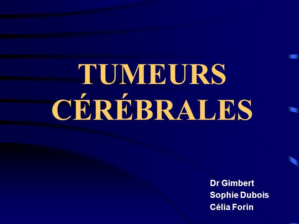 TUMEURS CÉRÉBRALES Dr Gimbert Sophie Dubois Célia Forin