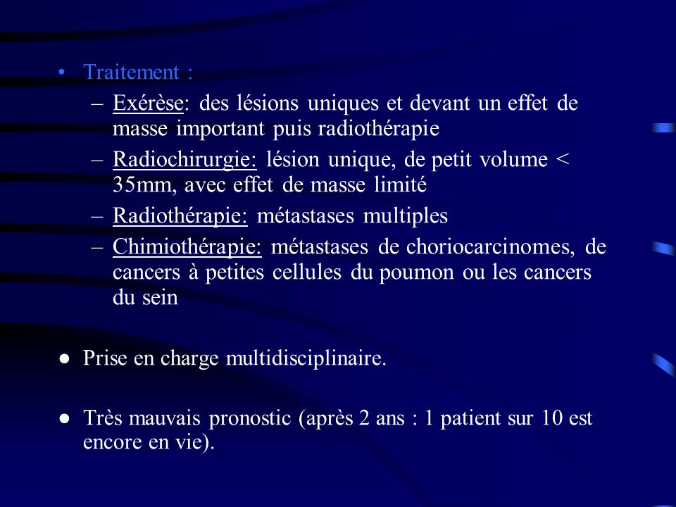 Radiothérapie: métastases multiples