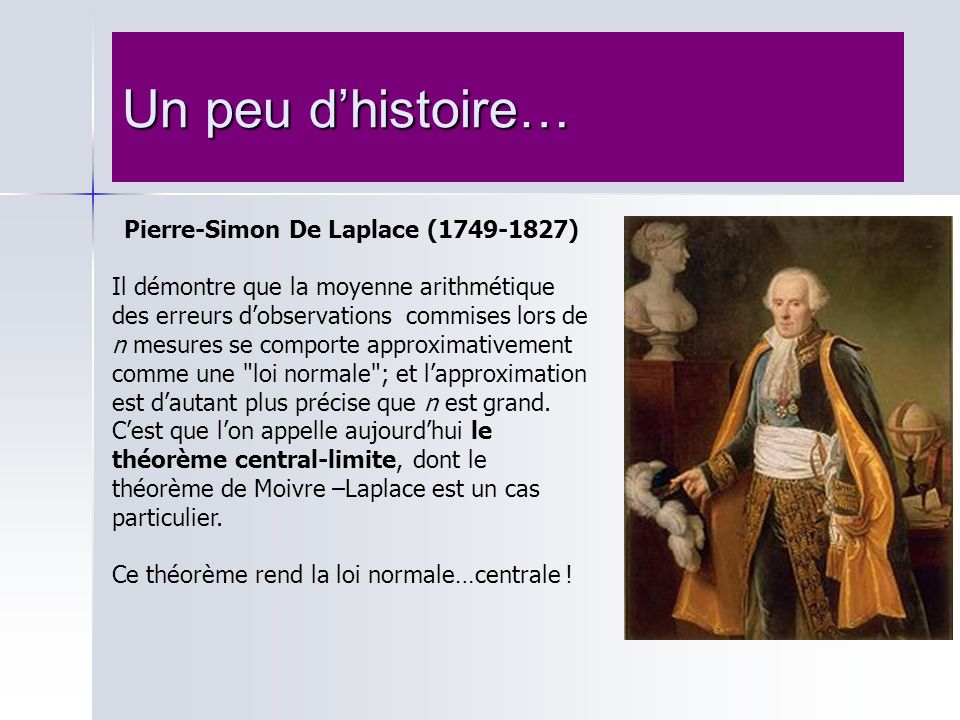 Pierre-Simon De Laplace (1749-1827)