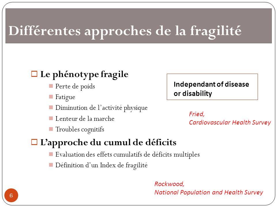 Différentes approches de la fragilité