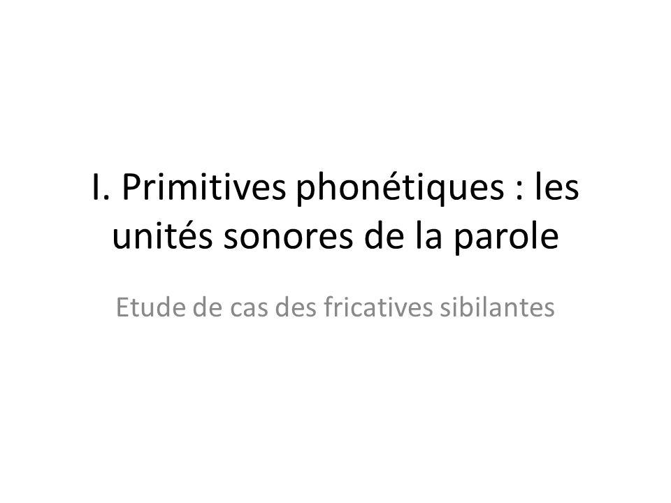 I. Primitives phonétiques : les unités sonores de la parole