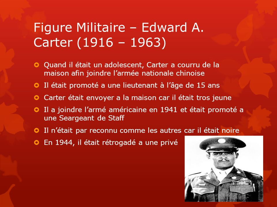 Figure Militaire – Edward A. Carter (1916 – 1963)