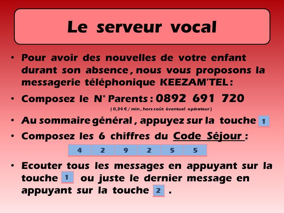 Le serveur vocal