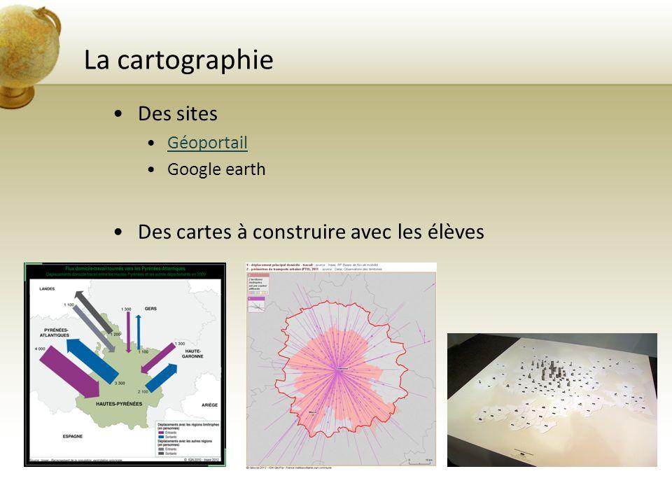 La cartographie Des sites Des cartes à construire avec les élèves