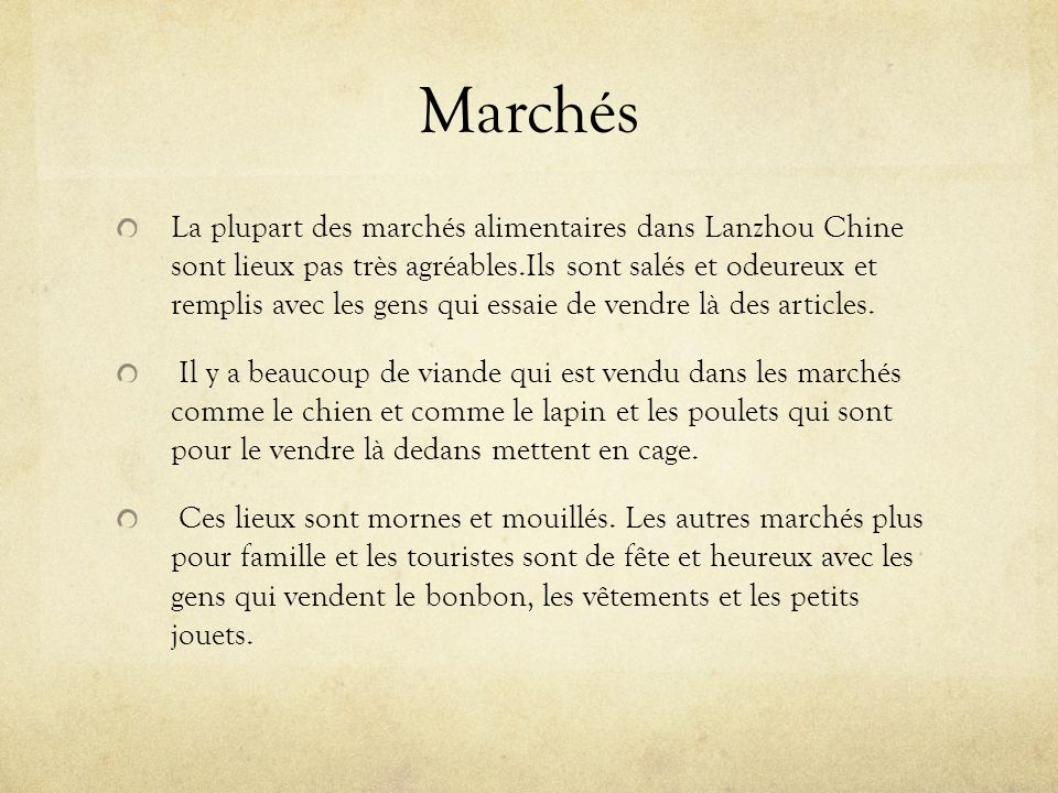 Marchés