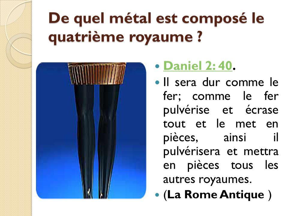 De quel métal est composé le quatrième royaume