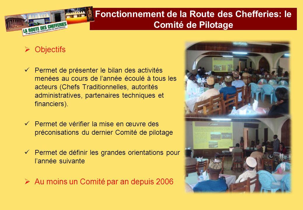 Fonctionnement de la Route des Chefferies: le Comité de Pilotage