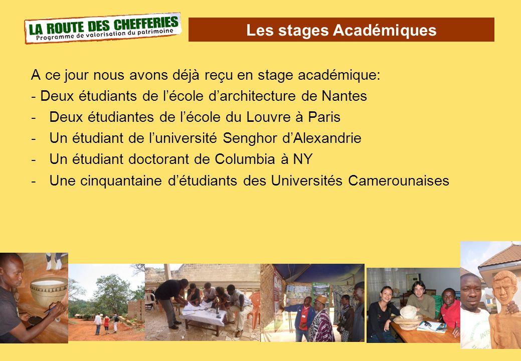 Les stages Académiques