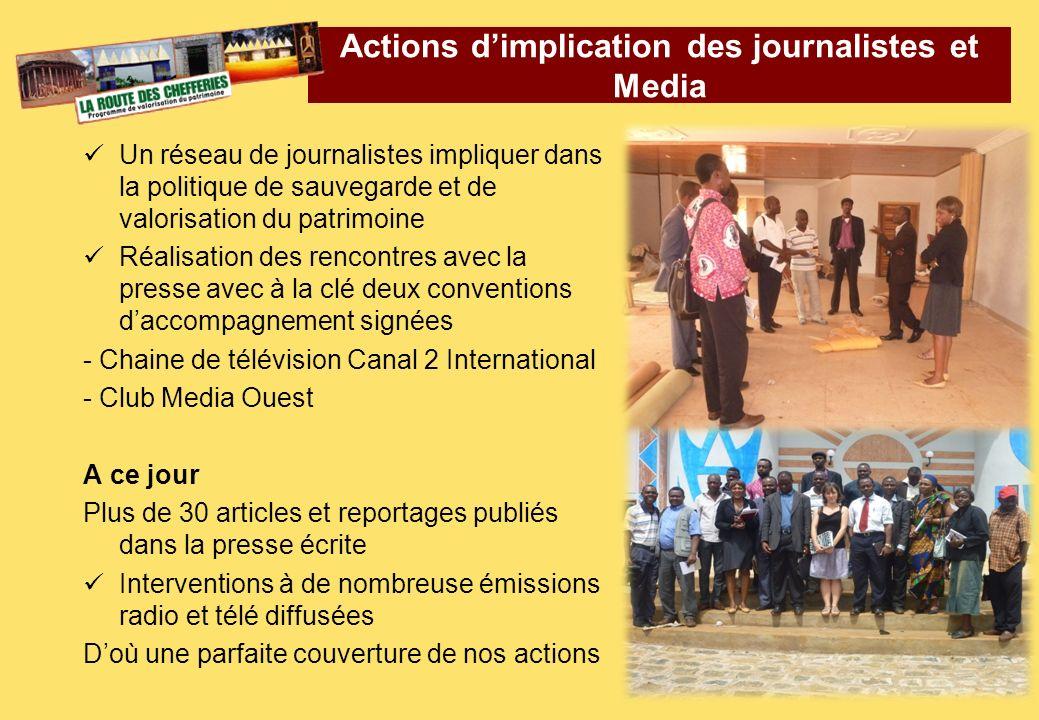 Actions d'implication des journalistes et Media