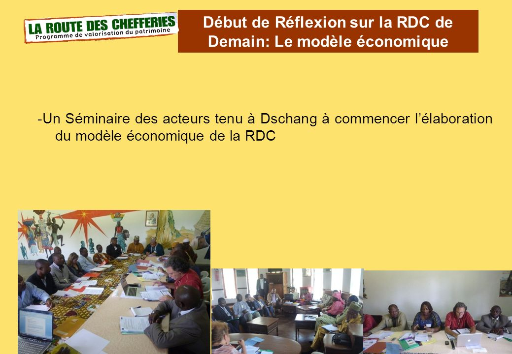 Début de Réflexion sur la RDC de Demain: Le modèle économique