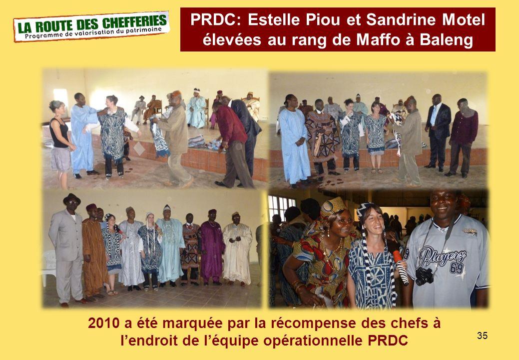 PRDC: Estelle Piou et Sandrine Motel élevées au rang de Maffo à Baleng