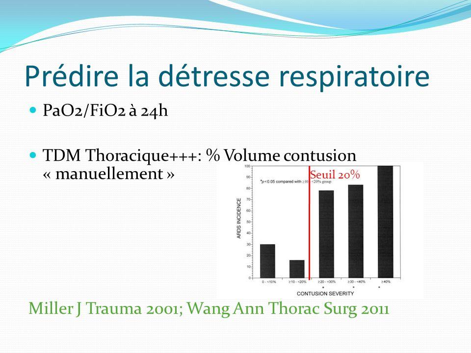 Prédire la détresse respiratoire