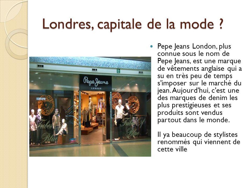 Londres, capitale de la mode