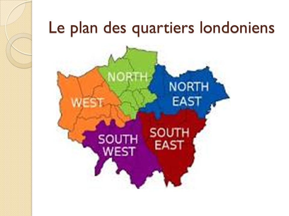 Le plan des quartiers londoniens