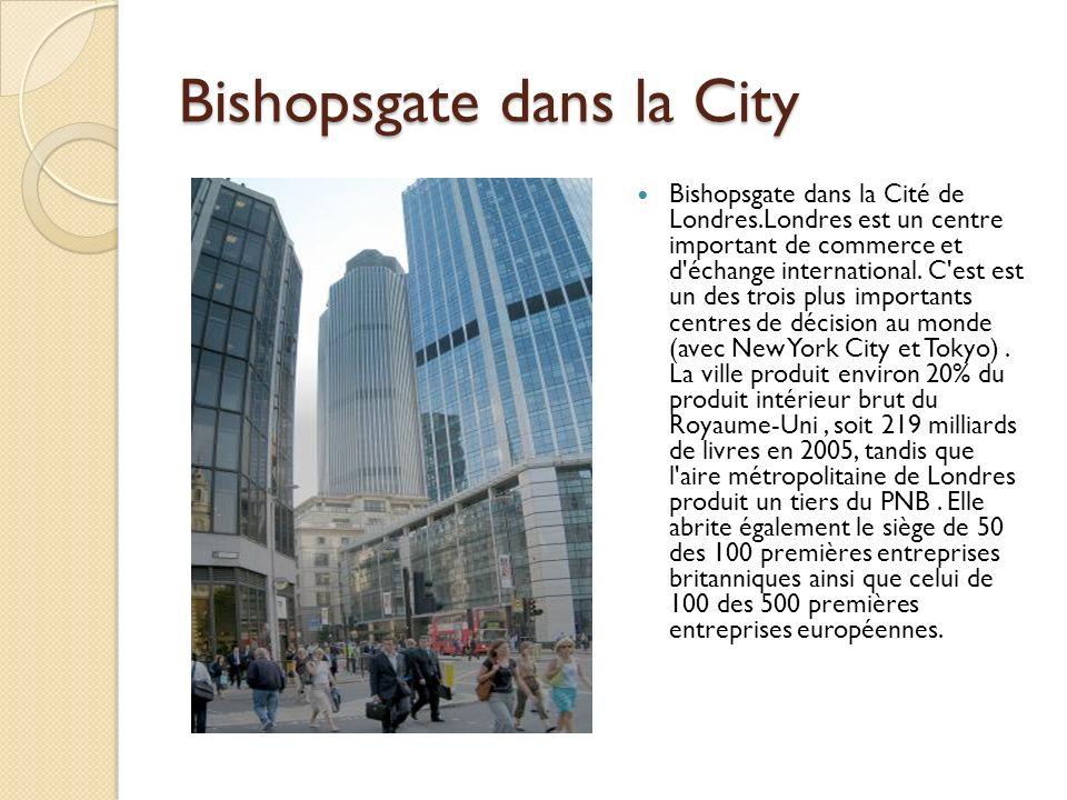 Bishopsgate dans la City