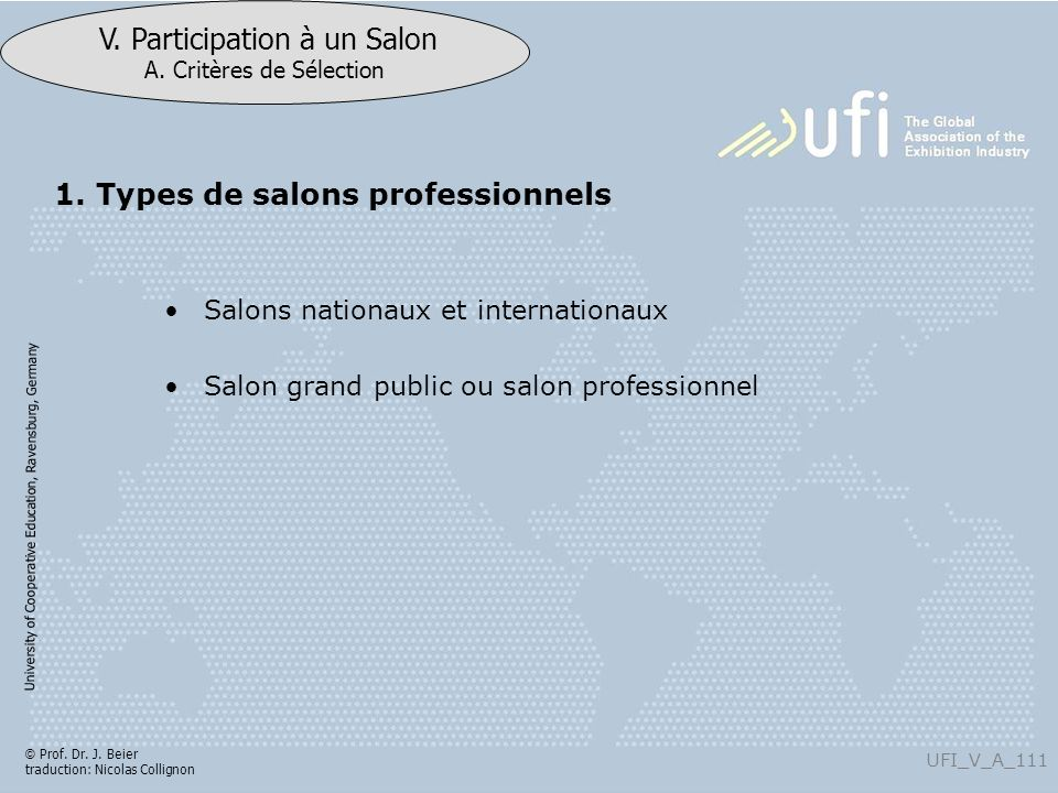 1. Types de salons professionnels