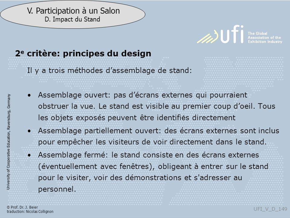 2e critère: principes du design