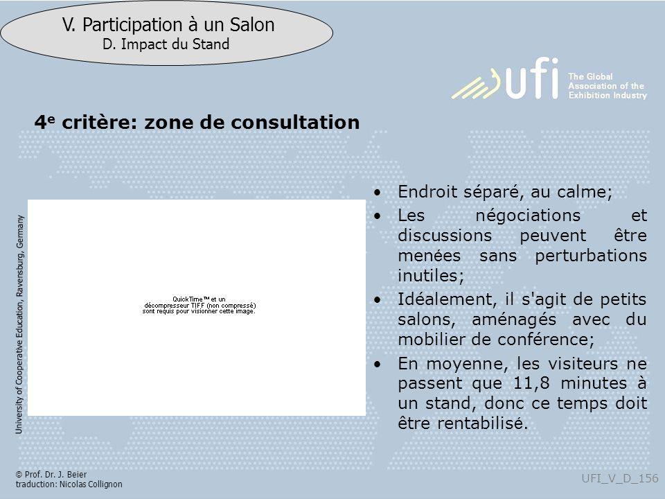 4e critère: zone de consultation