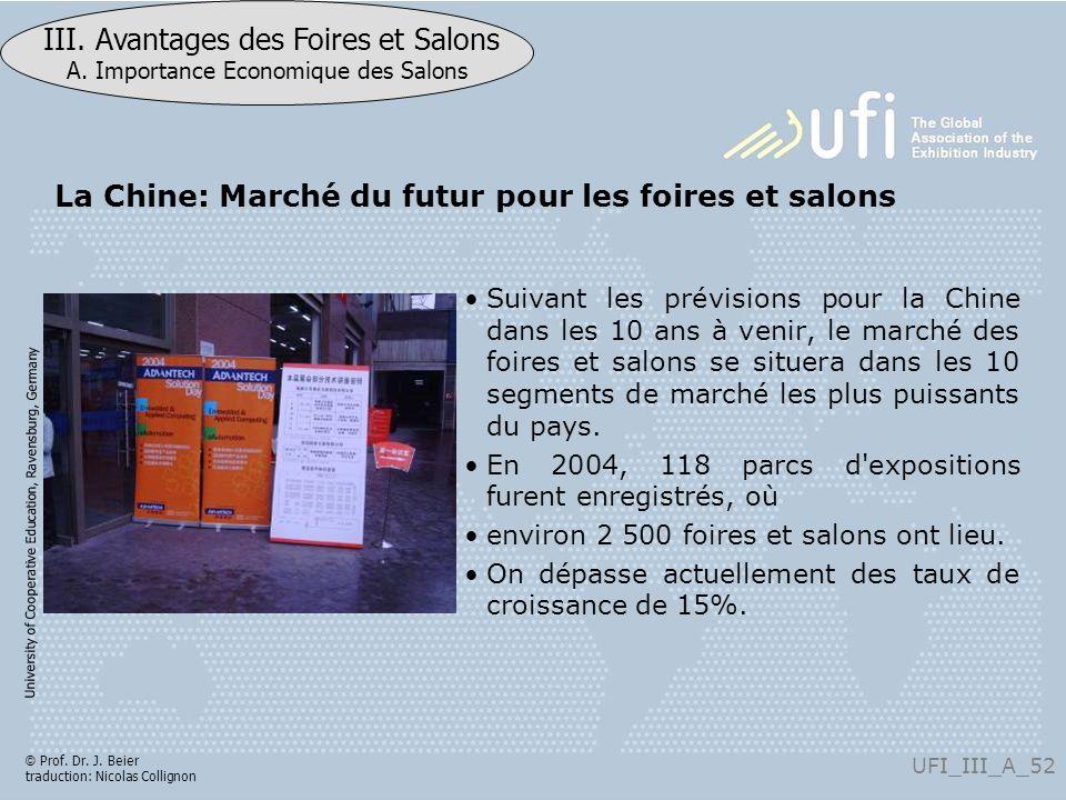 La Chine: Marché du futur pour les foires et salons