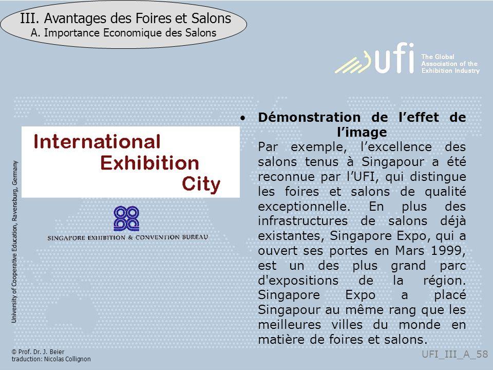 Démonstration de l'effet de l'image Par exemple, l'excellence des salons tenus à Singapour a été reconnue par l'UFI, qui distingue les foires et salons de qualité exceptionnelle.