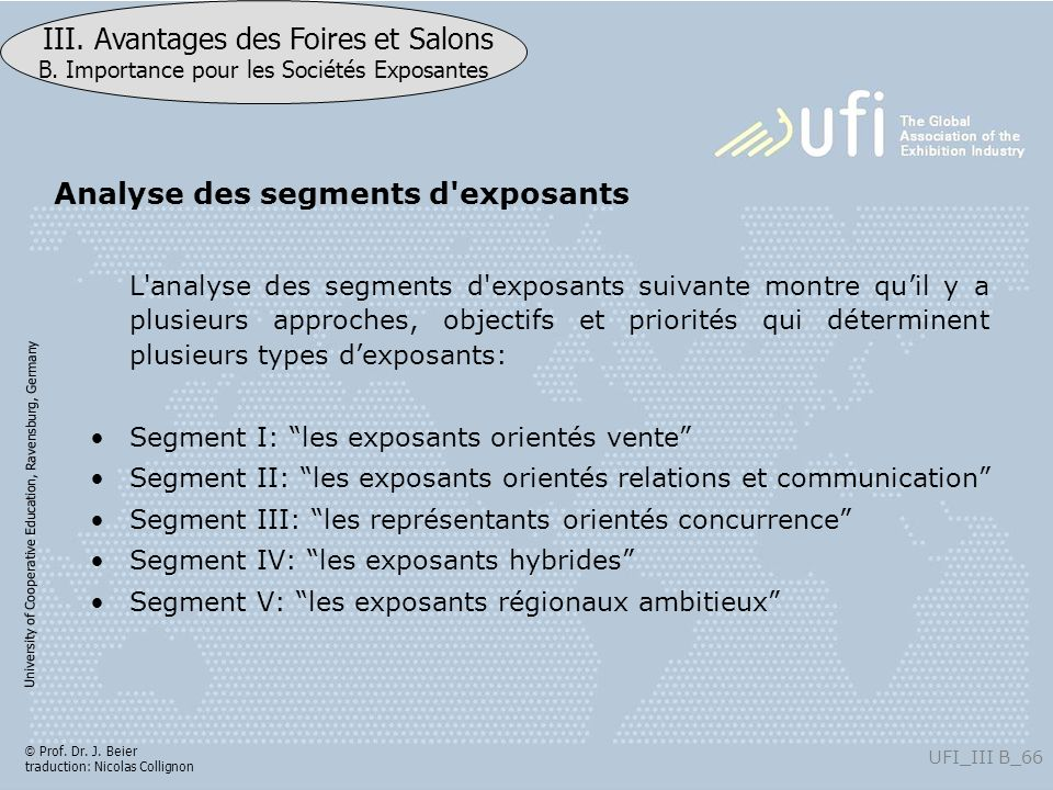Analyse des segments d exposants