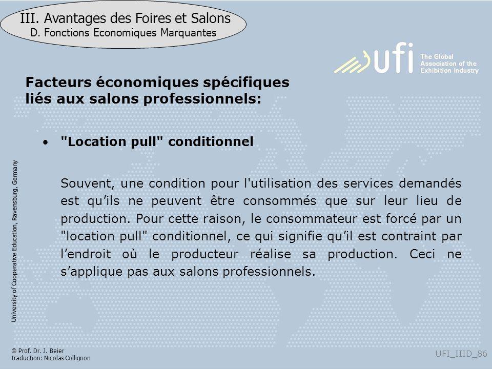 Facteurs économiques spécifiques liés aux salons professionnels: