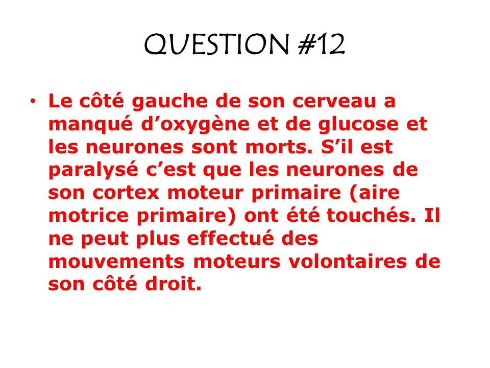 QUESTION #12