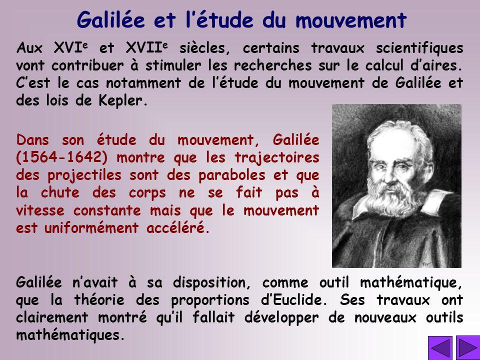 Galilée et l'étude du mouvement