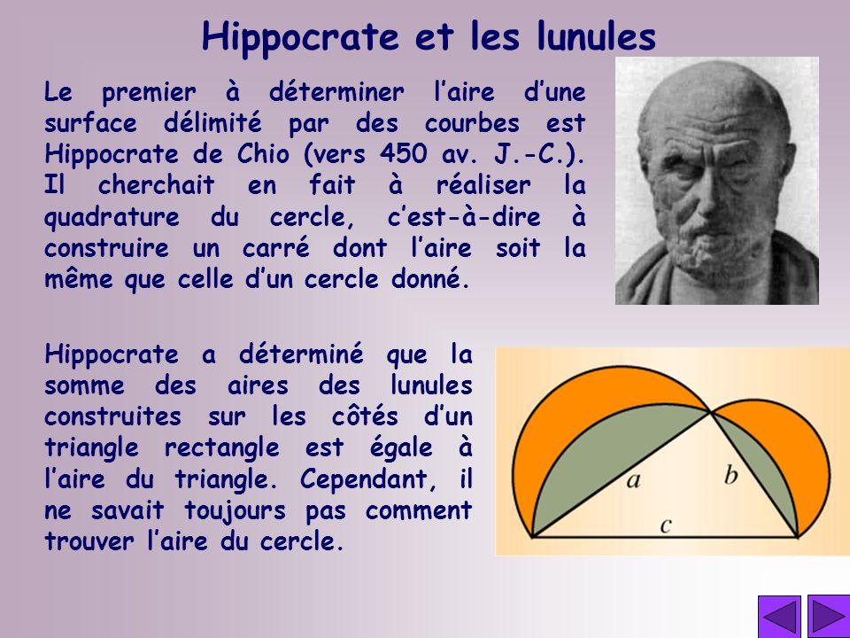 Hippocrate et les lunules