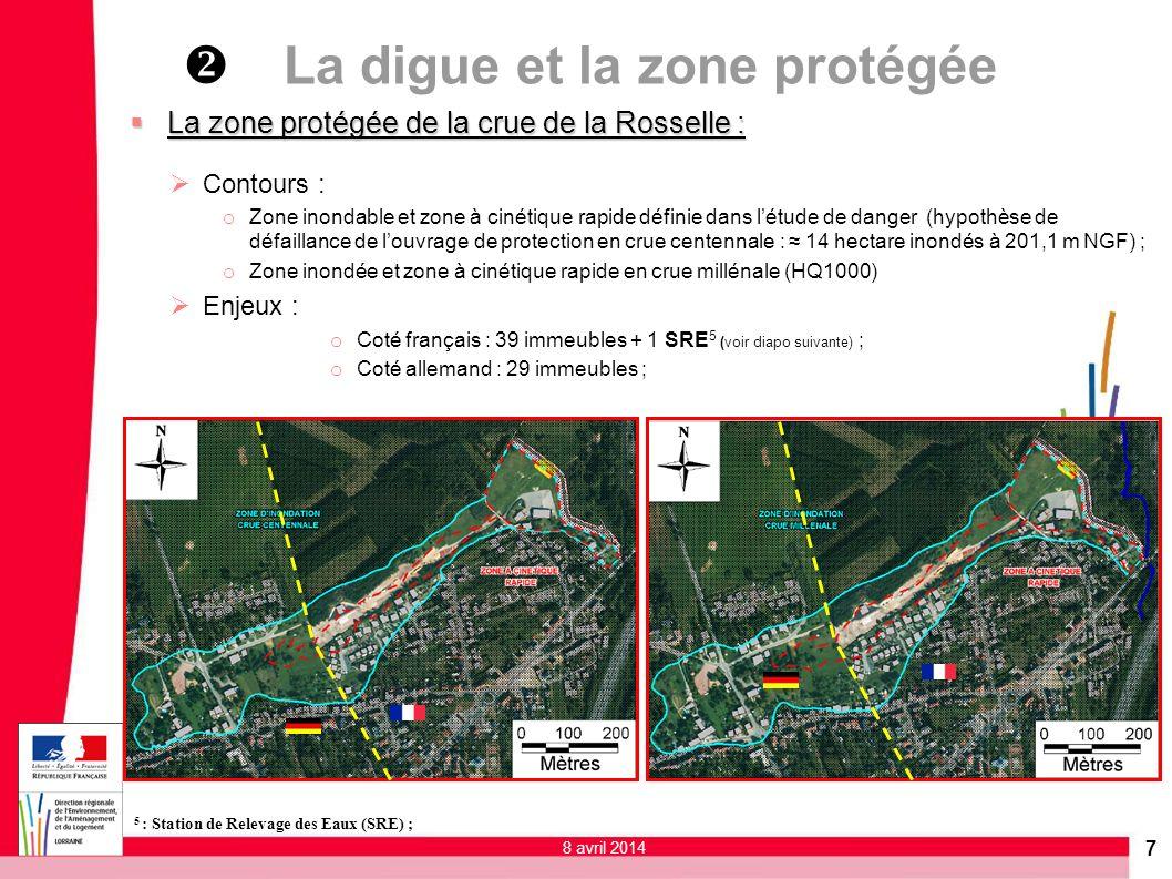 v La digue et la zone protégée