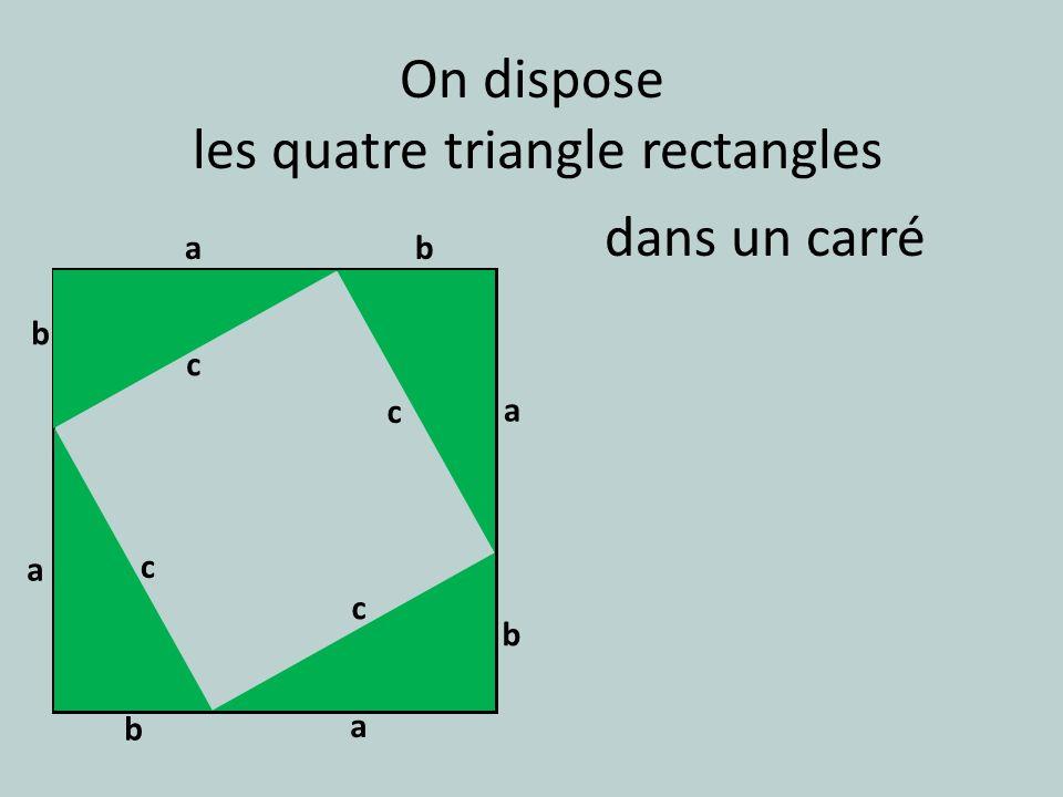 les quatre triangle rectangles