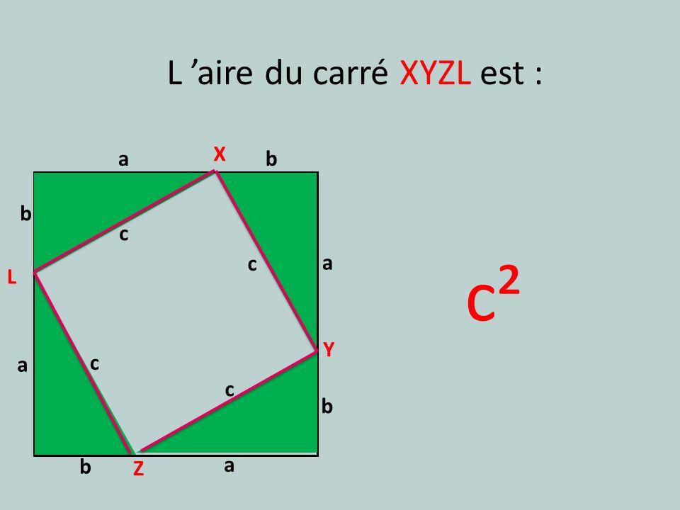 L 'aire du carré XYZL est :