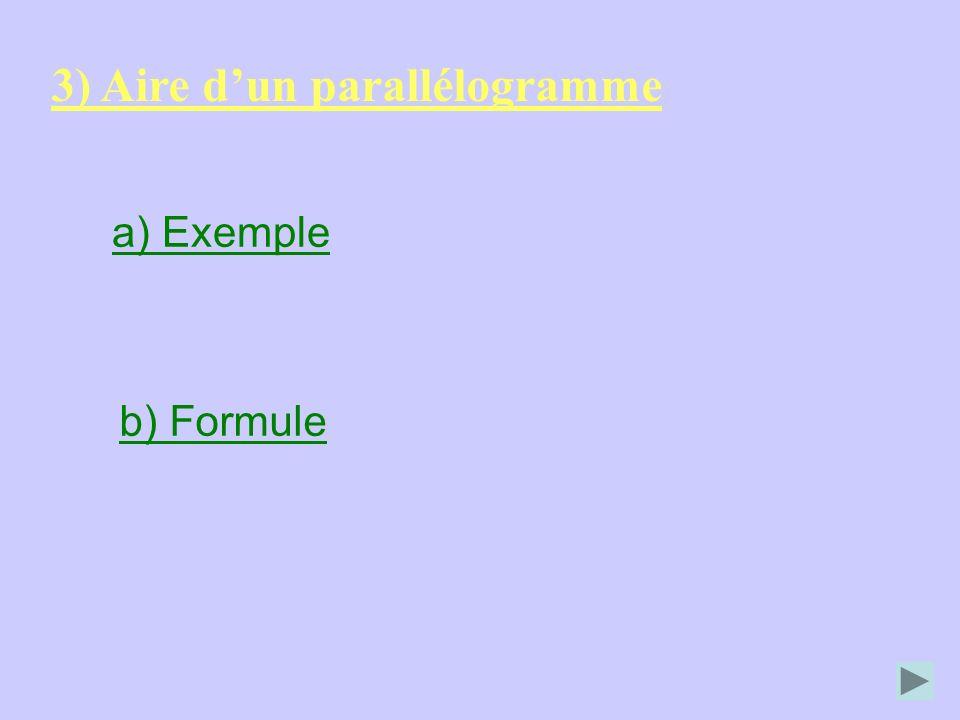 3) Aire d'un parallélogramme