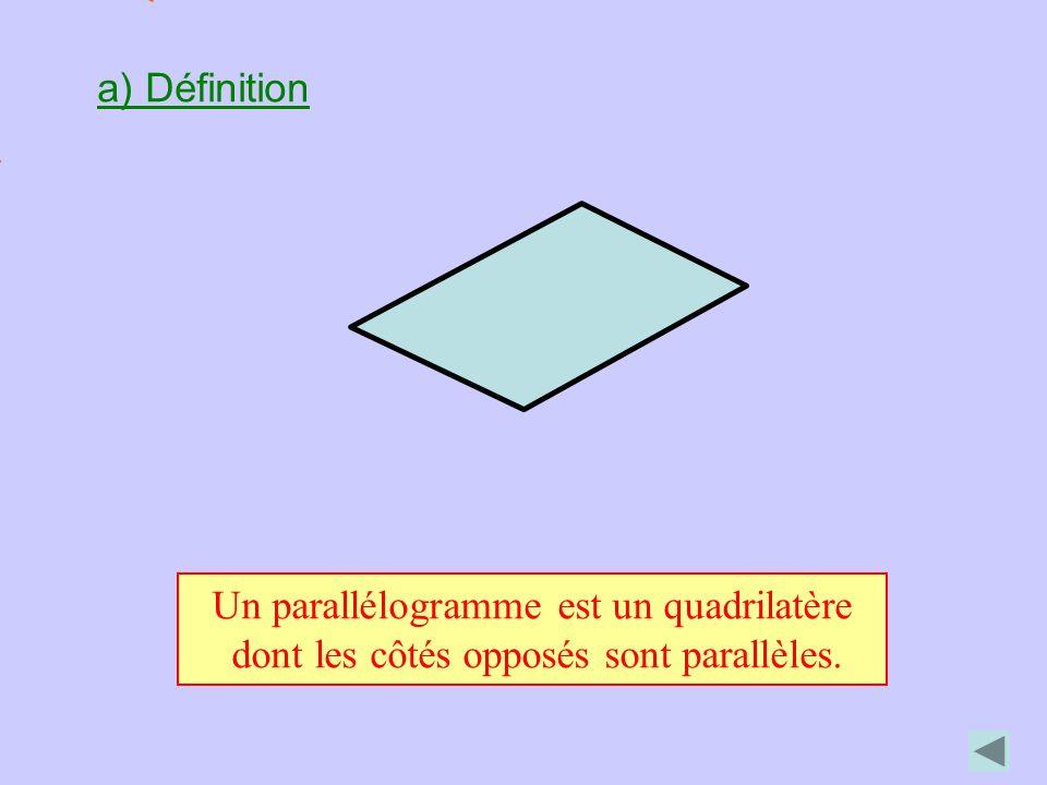 Un parallélogramme est un quadrilatère