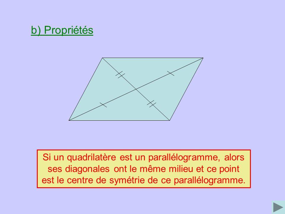 Si un quadrilatère est un parallélogramme, alors