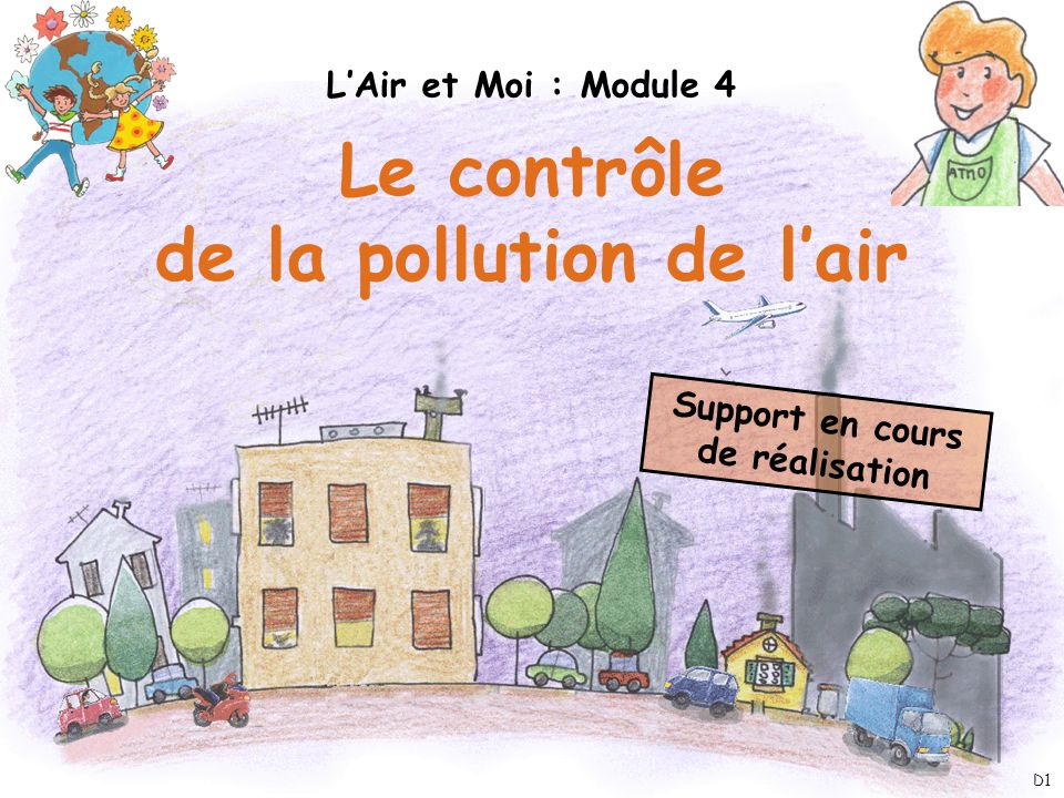 de la pollution de l'air Support en cours de réalisation