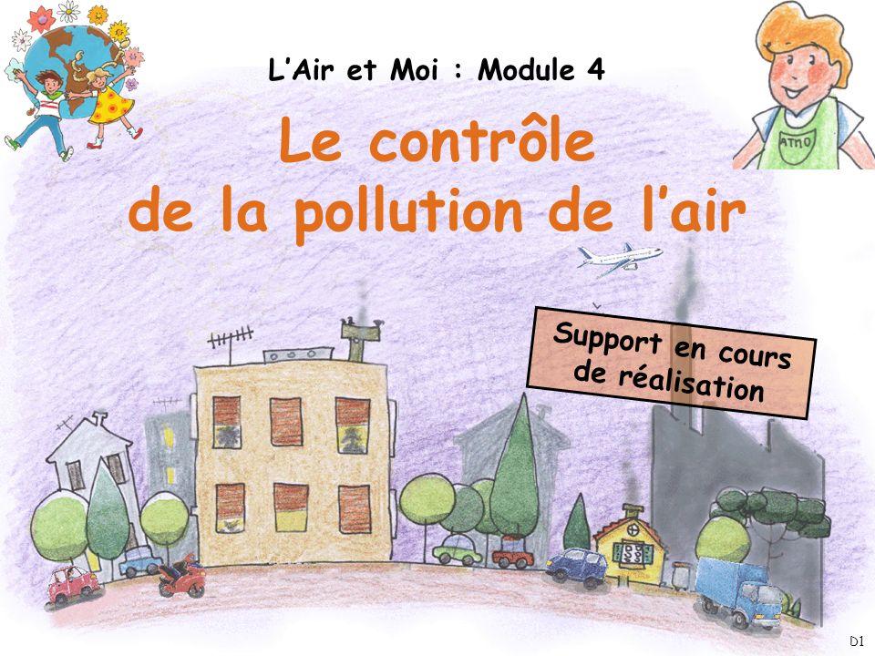 de la pollution de l'air Support en cours de réalisation