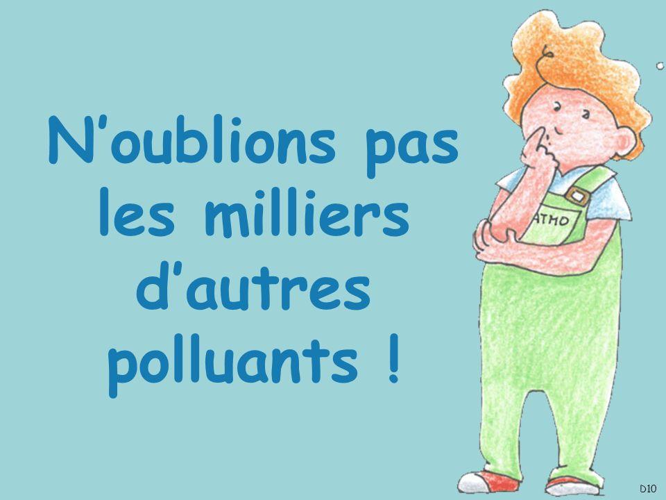 N'oublions pas les milliers d'autres polluants !