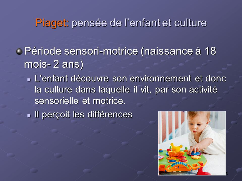Piaget: pensée de l'enfant et culture