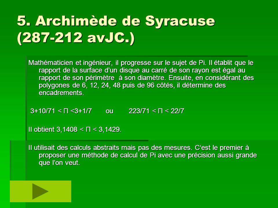 5. Archimède de Syracuse (287-212 avJC.)