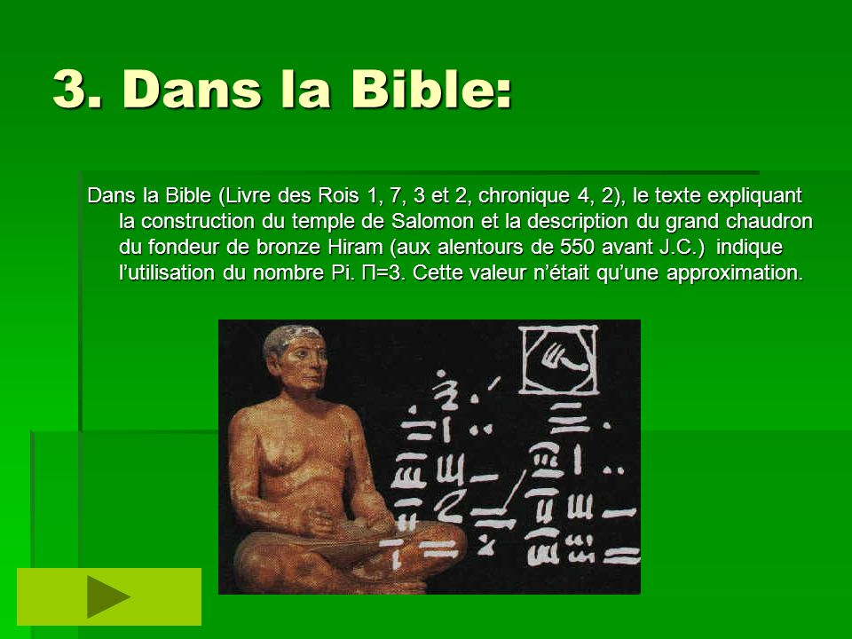 3. Dans la Bible: