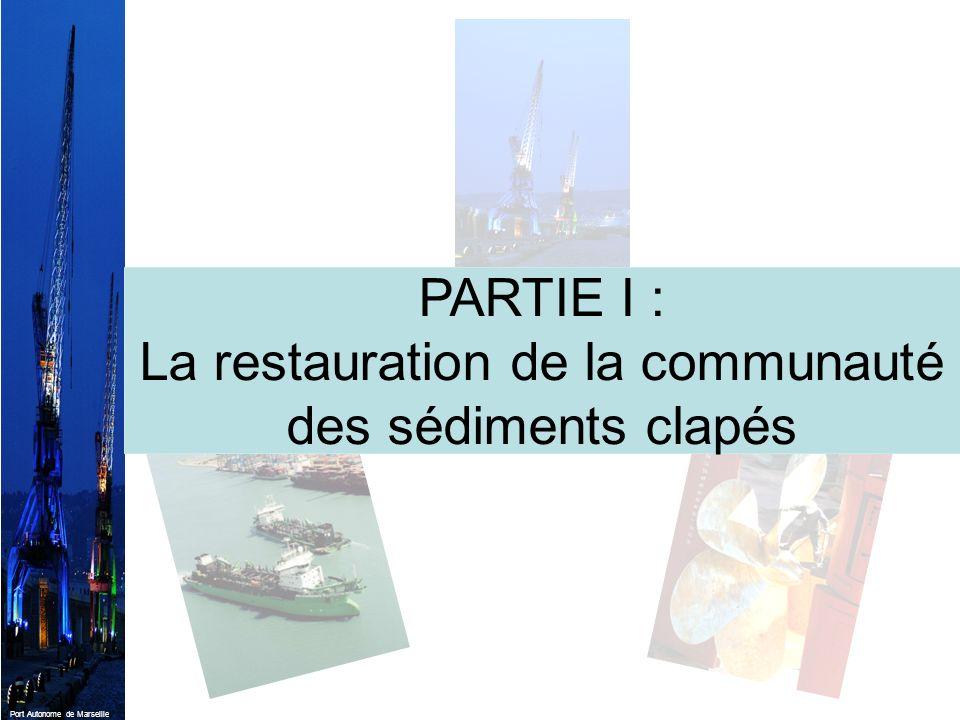 PARTIE I : La restauration de la communauté des sédiments clapés