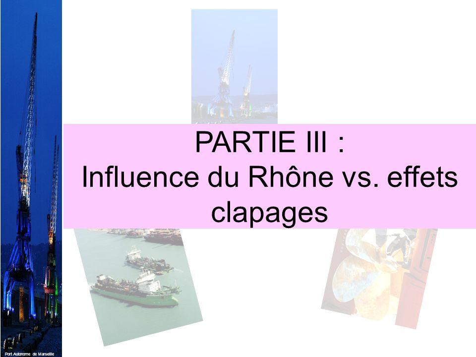 Influence du Rhône vs. effets clapages