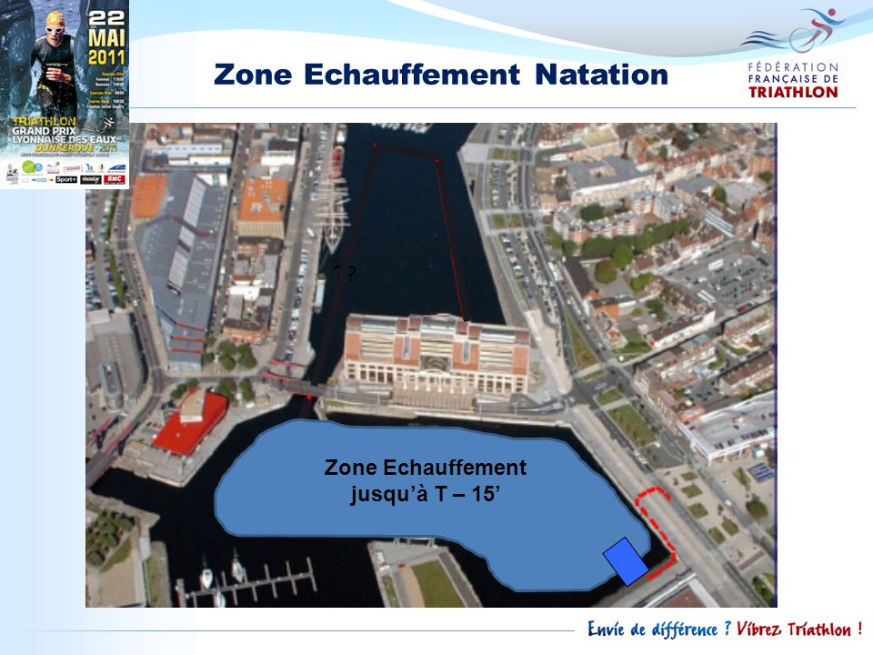 Zone Echauffement Natation Zone Echauffement jusqu'à T – 15'