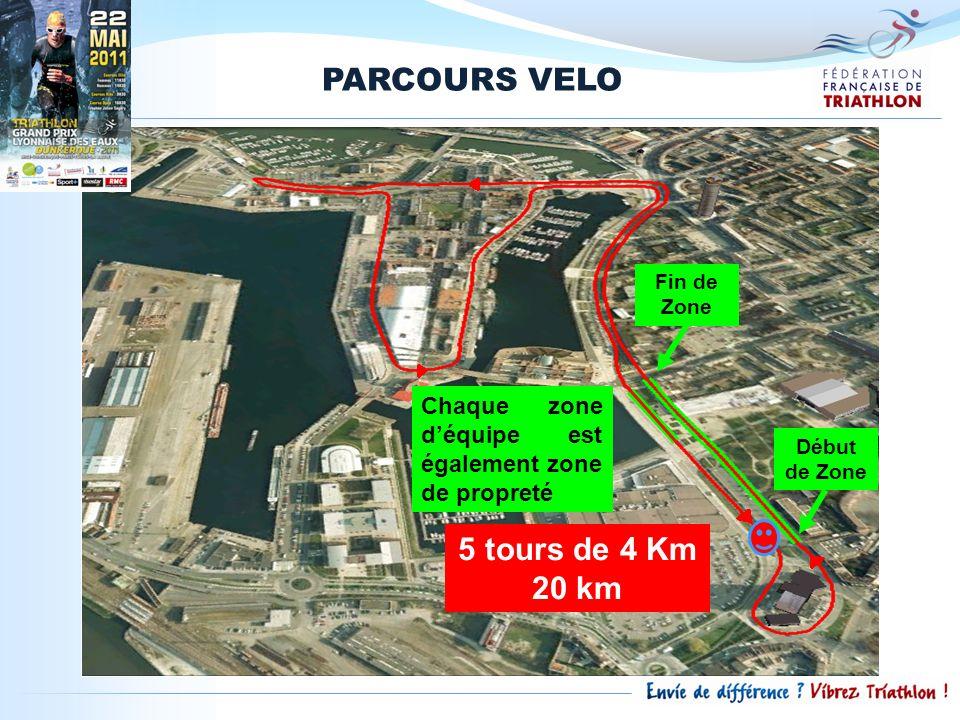PARCOURS VELO 5 tours de 4 Km 20 km