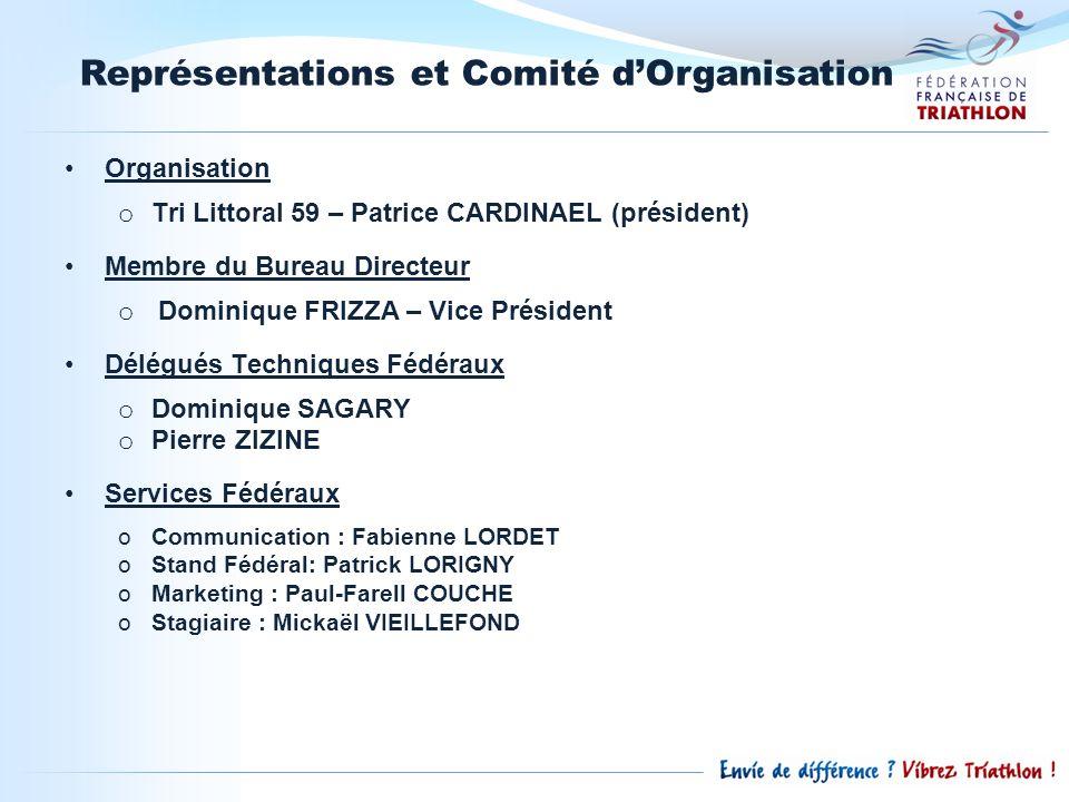Représentations et Comité d'Organisation