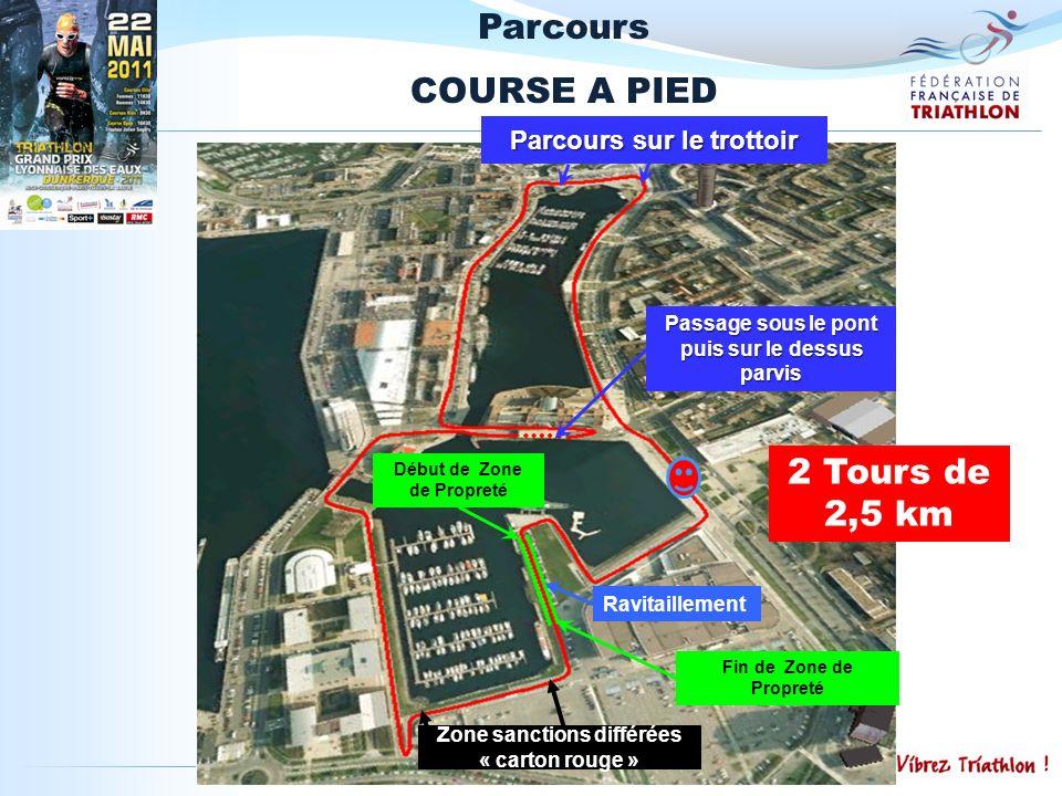 Parcours COURSE A PIED 2 Tours de 2,5 km