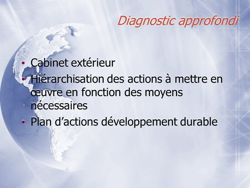 Diagnostic approfondi